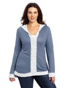 Fresh Laundry Women's Plus-Size Long Sleeve Hoodie « Clothing Impulse