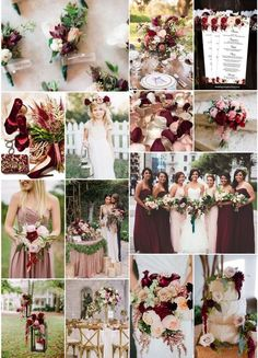 Wedding Themes Top 20 Wedding Color Combinations of All-Time Burgundy And Blush Wedding, Dusty Rose Wedding, Wedding Flowers, Burgendy Wedding, Merlot Wedding, Wine Colored Wedding, Blush Pink Weddings, Perfect Wedding, Dream Wedding