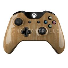 Custom XBOX One controller Wireless Glossy WTP-180-Orange-Wood-Grain Custom Painted- Without Mods