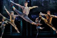 The cast of Newsies shows off its dancing abilities. More reviews at Curtain Critic: http://www.curtaincritic.com