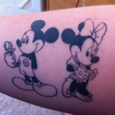 my Mickey and Minnie tattoo @Whitney Whiting