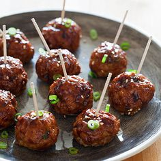 Korean-Style Cocktail Meatballs with a Sweet and Spicy Gochujang Glaze