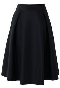 Full A-line Midi Skirt in Black - Skirt - Bottoms - Retro, Indie and Unique Fashion
