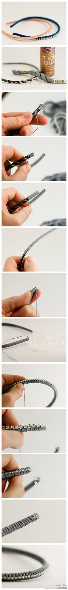 DIY Hair Band - I love this stuff, it adds for my hair beautification.