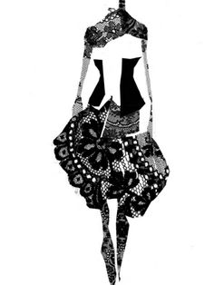 pierre louis mascia Mode Collage, Fashion Silhouette, Paper Illustration, Fashion Art, Fashion Design, Graphic Art, Sketches, Couture, Black And White