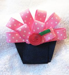 Love these bows by BabyA'sBows on etsy....so adorable and cheap!