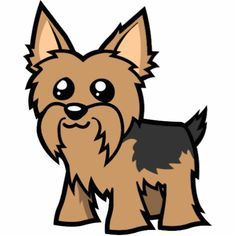 Cute cartoon yorkie Stock Photos Images Pictures