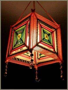 Mandalas en una lámpara