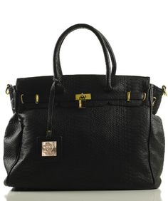 London Office Tote Croc Finish - Colors Available