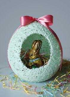 Sugar String Easter Egg Basket Tutorial | krysmelo.com