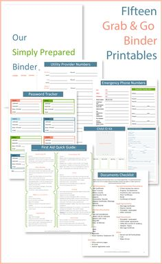Fantastic emergency binder printables with very complete information. Things I hadnt thought of or seen anywhere else are on this list.