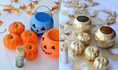 Grab a can of spray paint and let's makeover some dollar store items for a cute yet frugal Fall centerpiece!