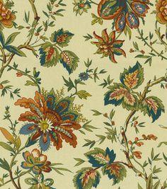 Home Decor Print Fabric-Waverly Felicite Cream reg. 39.99 sale $19.99