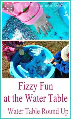 A fizzy and fun baking soda and vinegar activity at the water table plus more great ideas for water table activities. by coleen
