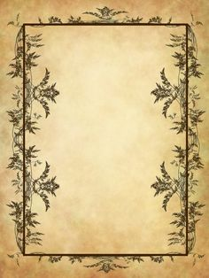 "Book of Shadows:  #BOS Blank page, ""051 Vintage Frame,"" by Tigers-stock, at deviantART."