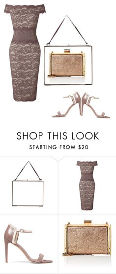 """Untitled #1209"" by daisy57 ❤ liked on Polyvore featuring NKUKU, Adrianna Papell, Salvatore Ferragamo and Nina Ricci"
