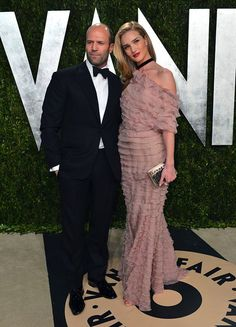 imthey: Jason Statham and Rosie Huntington-Whiteley at the...