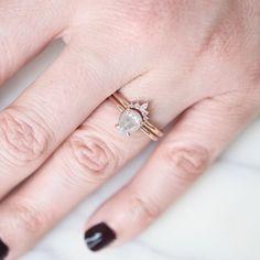 .98 Carat Grey Pear Diamond 14k Rose Gold Engagement Ring Pear Shaped Diamond, Rough Diamond, Grey Diamond Engagement Ring, Engagement Rings, Beautiful Rings, Band Rings, White Gold, Wedding Rings, Jewelry