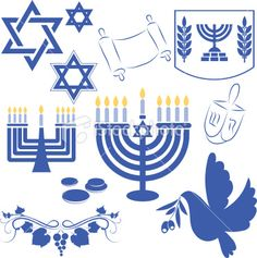 Hanukkah symbol royalty-free hanukkah symbol stock vector art & more images of blue Hanukkah Symbols, Hanukkah Diy, Hanukkah Traditions, Jewish Celebrations, Hanukkah Cards, Hanukkah Decorations, Hannukah, Happy Hanukkah, Cultura Judaica