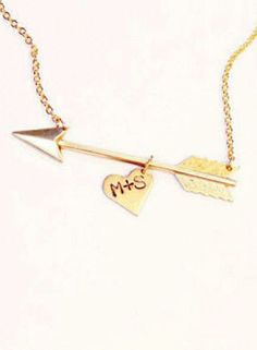 Initials Arrow Necklace