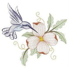 Rippled Hummingbirds 16(Sm) machine embroidery designs