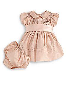 Ralph Lauren - Infant's Smocked Silk Taffeta Dress & Bloomers Set