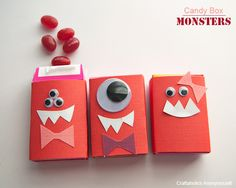 candy monster valentines. fun for kids!