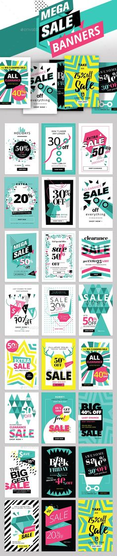 Mega Sale Banners — Photoshop PSD #abstract #mobile • Download ➝ https://graphicriver.net/item/mega-sale-banners/18931919https://graphicriver.net/item/christmas-and-new-year-greeting-cards-and-banners/13709542?ref=beart-presets