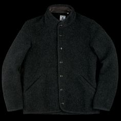 UNIONMADE - Arpenteur - Rachel Boiled Wool Jacket in Charcoal