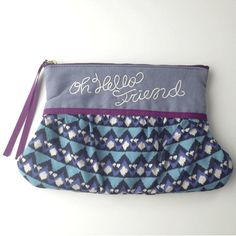 Cosmetic pouch gray  http://bonony.thebase.in