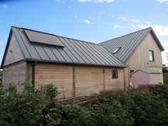 Colorcoat Urban® Standing Seam steel roof and wall cladding systems are a lightweight, strong and versatile alternative to traditional building materials. Roof Cladding, Larch Cladding, Cladding Systems, Wall Cladding, Tata Steel, Standing Seam Roof, Zinc Roof, Self Build Houses, Wood Shingles
