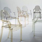 Louis Ghost Chair by Kartell, Designed by Philippe Starck at @24e Design Co. in Savannah