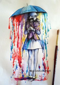 Water color tattoo design by Kylie Wild Heslop Artist.