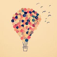 Skrivutmaningen: En färd med varmluftsballong - The Orange Tree Diary Orange, Instagram