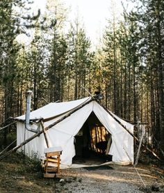 "upknorth: "" The farther you get away, the more it all makes sense. Part tent, part cabin. Awesome setup shot via by "" Get Outdoors, The Great Outdoors, Tent Camping, Glamping, Safari, Tent Set Up, Rain Fly, Water Collection, Adventure Photography"