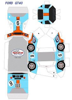 paper car craft | SP. Papel Modelismo: PaperCraft - Ford GT40