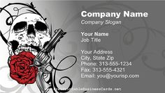 Tattoo large business card zazzle tattoo sleeve template card red skull gun and rose business card fbccfo Gallery