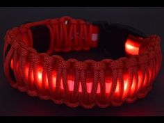 How to Wrap an L.E.D. Dog Collar with Paracord - BoredParacord - YouTube.......You can buy the LED Dog collar (the one that's under the paracord) from www.boredparacord.com