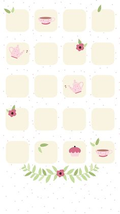 Simple Girly TeaTime iPhone Home Screen Wallpaper @PanPins