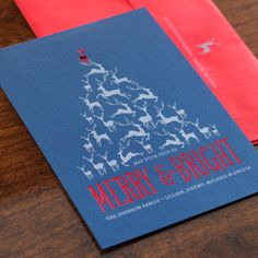 Dancing Deer Holiday Card by Checkerboard Ltd.