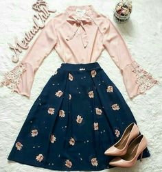 Skirt Outfits, Modest Outfits, Classy Outfits, Vintage Outfits, Casual Outfits, Fashion Mode, Apostolic Fashion, Modest Fashion, Hijab Fashion