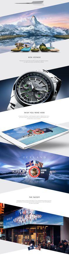 WORLD CITIZEN on Web Design Served - man watch with price, man watch with price, latest men watches *ad Layout Design, Website Design Layout, Web Layout, Blog Design, Page Design, Blog Layout, Design Sites, Web Design Trends, Design Web