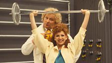 Colin Baker, the Sixth Doctor. Bonnie Langford, Colin Baker, First Doctor, Doctor Who Tardis, Bbc Tv, English Actresses, Dancer, Take That, Theatre