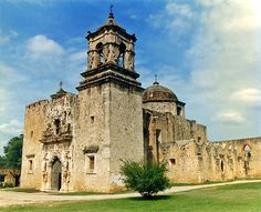 San Jose Mission, the largest of five missions that the Spanish established around San Antonio, Texas in the 18th Century (the Alamo was another mission).