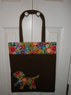 30% off use code Mar2015 Lauren Tote Bag with Applique Very Easy sew by Thatsastitch