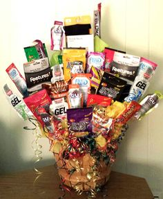 Lmrobbins1 feel free to have this sent to our hotel in a few weeks runner fuel gift bouquet basket negle Choice Image