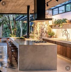 Modern Kitchen Design, Interior Design Kitchen, Dream Home Design, House Design, Cuisines Design, Küchen Design, House Goals, Beautiful Kitchens, Home Fashion