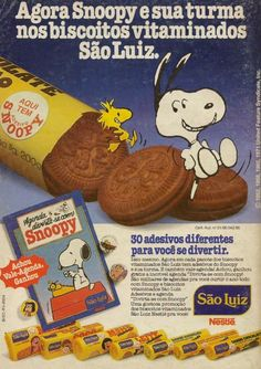 Biscoito São Luiz Snoopy #nostalgia