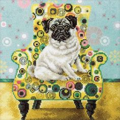 Oh God I just love this. pattern is a little expensive but.....Pug - Cross Stitch Kit