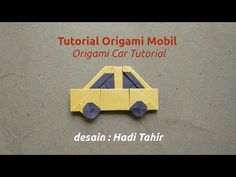 How to Make a Simple and Easy Origami Car with Colour Change Mobil Origami, Origami Toys, Origami Car, Origami Videos, How To Make Origami, Simple Origami, Origami Tutorial, Diy Car, Paper Folding